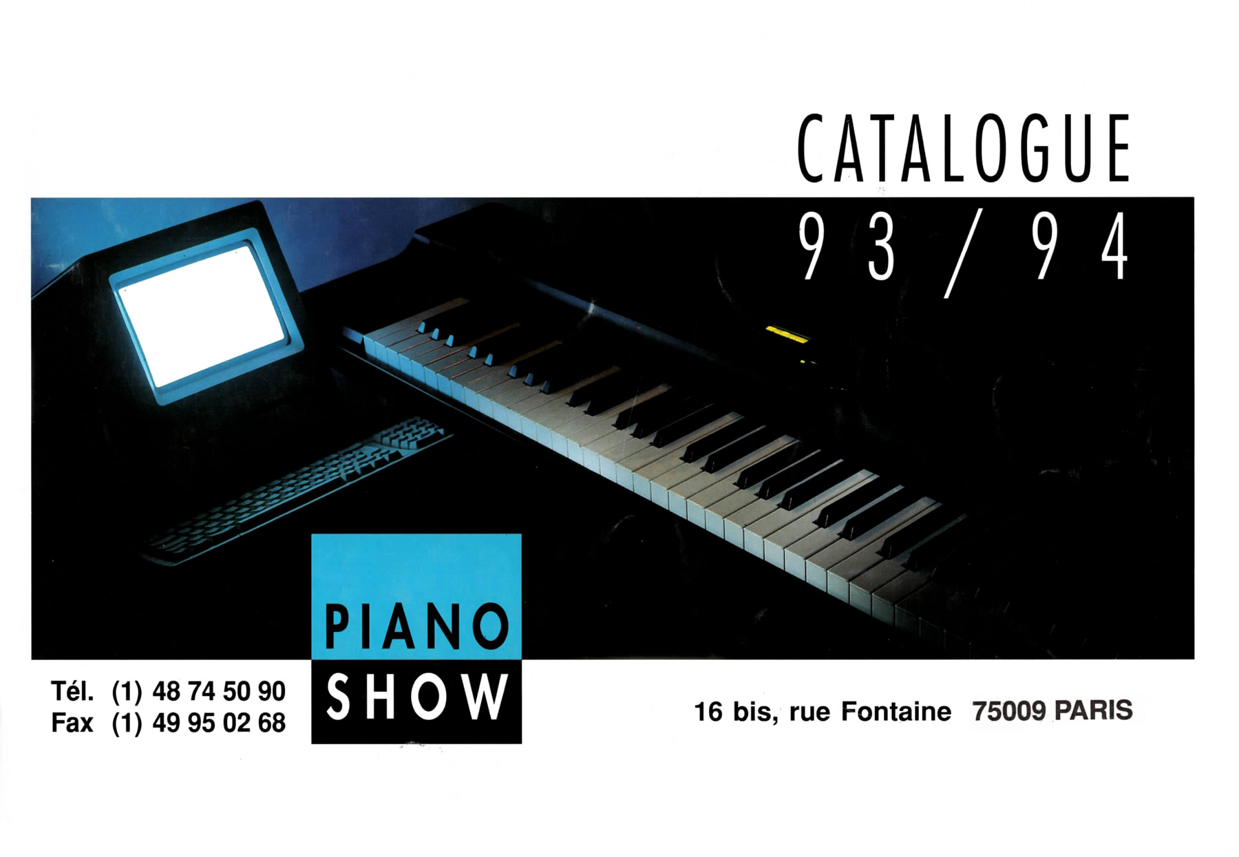 Catalogue Piano Show 1993 - 1994